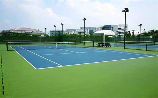 濟南市奧體中心七個硬地丙烯酸網球場
