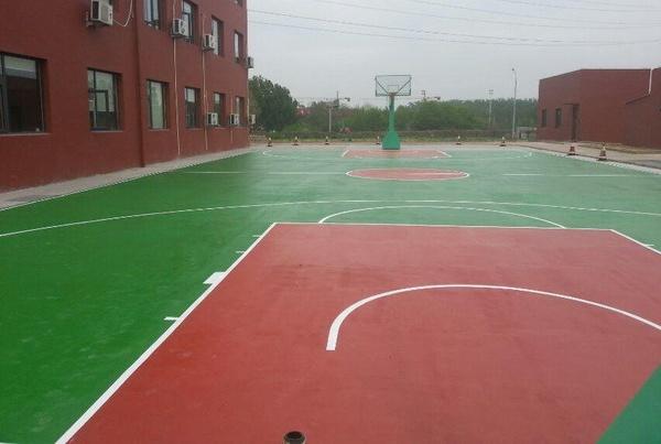 青岛市黄岛区致远中学硅PU篮球场